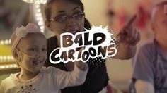 Famous cartoons have gone #bald to support kids with #cancer.