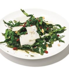 In a surprising twist, Tuscan kale is served raw—and makes for a substantial and satisfying winter salad. Be sure to choose bunches of Tuscan kale with small leaves, which are more tender.