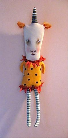 guy clown art doll | hand made hand painted | Sandy Mastroni | Flickr