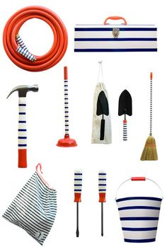 The toolbox, the plunger, the broom . . . no reason why these items can't be beautiful!