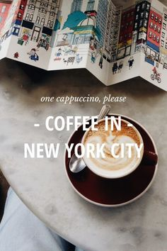 """One Cappuccino, please"" // Coffee in New York City by Irene Kim on Steller I Love Coffee, Coffee Break, My Coffee, Cappuccino Coffee, Happy Bones Nyc, Photo Café, Irene Kim, Coconut Oil Weight Loss, A New York Minute"