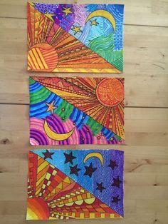 Graphisme art ideas pinterest samedi matin aquarelle et motifs for Couleur chaudes et froides