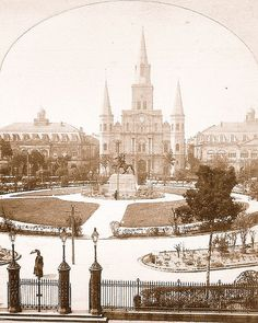 St. Louis Cathedral & Jackson Square by NewOrleans1885, via Flickr