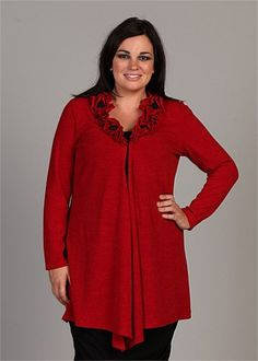 TS14+ Enthuse Cardy - Ketchup Red  #curvy #plussize #fashion
