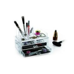 Cosmetic Display Organiser with Drawers - Lowest Prices & Specials Online Cosmetic Display, Storage Organization, Health And Beauty, Drawers, Cosmetics, Organization, Set Of Drawers, Chest Of Drawers