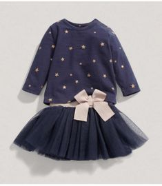 Princess-Baby-Girls-Party-Star-Tops-T-shirt-Tulle-Skirts-2pcs-Outfits-Set-Dress