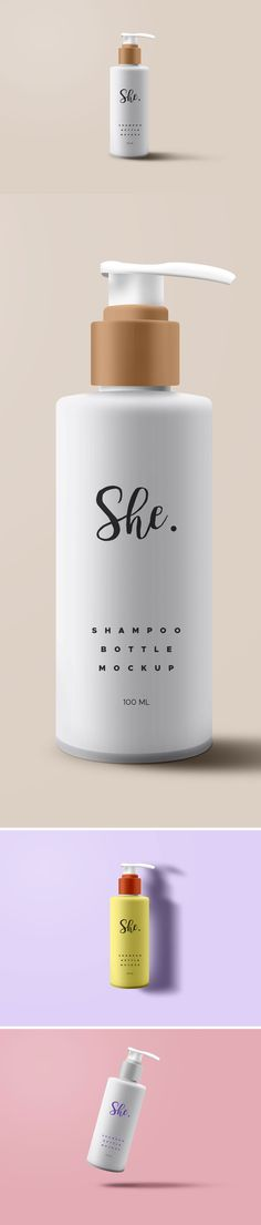 Shampoo Bottle Mockup PSD