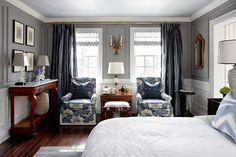 sarah richardson sarah 101 grey blue bedroom white vanessa headboard floral chairs