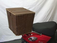 This rear cargo basket with removable liner will keep your stuff safe and dry, and comes with all the necessary hardware to mount to your scooter. White Jeep, Black Jeep, Vespa Accessories, Home Accessories, Scooter Storage, Milk Crates, Scooter Parts, 50cc, Jeep Wrangler Unlimited