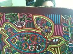 The Helpful Art Teacher: Molas. Beautiful fabric designs by the Kuna people of Panama
