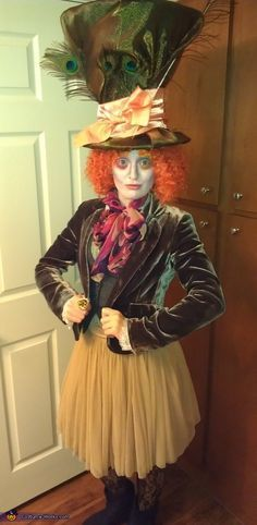 Mad Hatter - Halloween Costume Contest via  sc 1 st  Pinterest & DIY Mad Hatter Top Hat | Inspiring Ideas | Pinterest | Mad hatter ...