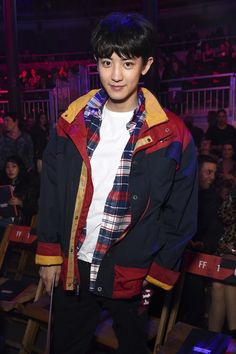 Chanyeol Exo for Tommy Hilfiger Park Chanyeol Exo, Luhan, Kokobop Exo, Tommy Hilfiger, Rapper, 5 Years With Exo, Xiuchen, Tommy Boy, Chanbaek