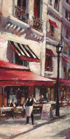 Cafe Marseille Giclee Print by Brent Heighton Find Art, Buy Art, Draw On Photos, Art Pictures, Framed Artwork, Photo Art, Giclee Print, Art Prints, Poster