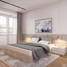 30 Minimalist Bedroom Decor Ideas that are Not Too much but Just Enough - Hike n Dip - - If you think that simplicity is the new chic then here are incredibly simple but truly gorgeous Minimalist Besroom decor Ideas that'll make you skip a beat. Modern Master Bedroom, Bedroom Furniture Design, Modern Bedroom Design, Master Bedroom Design, Contemporary Bedroom, Bedroom Designs, Master Suite, Bedroom Small, Trendy Bedroom