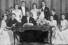 The Kennedy's: Rose, Ted, Rosemary, Joe Jr., Joe Sr., Eunice, Jean, John, Bobby, Patricia and Kathleen