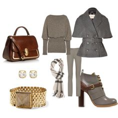 """Gray and Brown Outfit"""