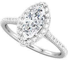 Santa Cruz | Nue Diamonds $792 #weddingring #gold #diamonds http://www.nuediamonds.com/spring_wedding_engagement_ring_Santa_Cruz_marquise.html