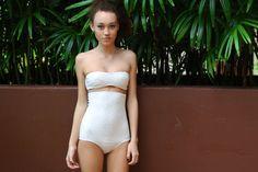 Gold Polka Dots High Waisted Bikini, $60