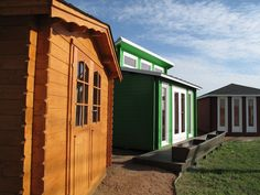 EZ-Log cottages can be seen at Affordable Portable's two Austin area locations.