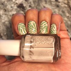 Essie Urban Jungle with Zoya Ness stamped on top #manicurediary