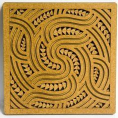 Set of 5 Wooden Kowhaiwhai Tile Art Design Elements, Modern Design, Window Envelopes, Feature Tiles, Tile Art, Urban Art, Animal Print Rug, Print Patterns, Old Things