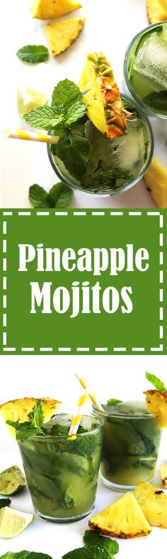 Pineapple Mojitos - Refreshing mojitos that are slightly sweet, heavy ...