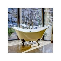 """CheviotProducts Regency 61"""" x 30"""" Soaking Bathtub Feet Finish: Brushed Nickel, Color: White Interior with White Exterior"""