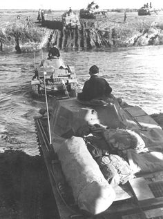 June 1941. Panzer IIs wading a river and advancing into Soviet territory.