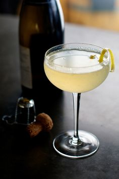 Airmail : Rum, Honey Syrup, Lime Juice, Champagne | A Crimson Kiss