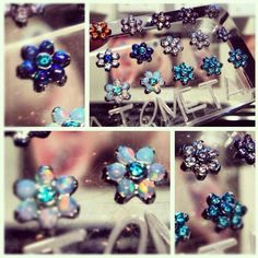 Even though it's cold outside it can still be summertime on your face with these flowers by @anatometal!