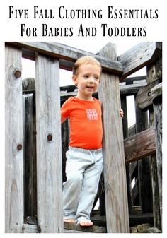 What are the top five fall clothing essentials that babies and toddlers need this season?  AD gift idea clothes family