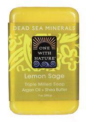 Dead Sea Minerals Triple Milled Bar Soap - Lemon Sage
