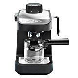KRUPS XP1020 Steam Espresso Machine with Glass Carafe, 4-Cup, Black