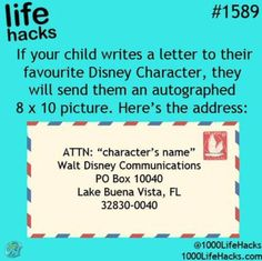 Disney Character address