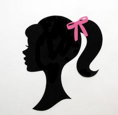 barbie silhouette | Barbie Silhouette Applique Pictures