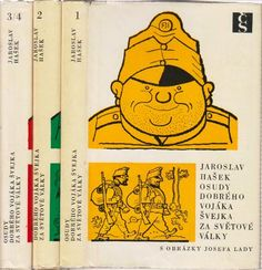 Josef Lada – Hasek's The Good Soldier Švejk in 3 volumes Brave, Doll Toys, Winnie The Pooh, Literature, Disney Characters, Fictional Characters, The Past, Good Things, Watercolour