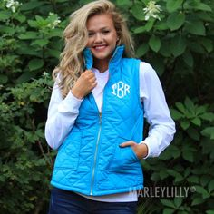 Monogrammed Quilted Puffy Vest