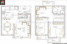 plantas de sobrados com dois quartos gratis - Google Search