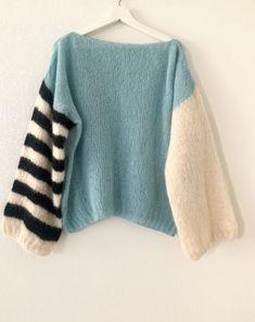Very soft Alpaca sweater Pullover Design, Sweater Design, Knitting Patterns Free, Knit Patterns, Hand Knitting, Cool Sweaters, Blue Sweaters, Crochet Woman, Knit Crochet