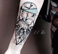 Jessica Svartvit Tattoo