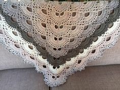 allocke's Virus shawl project made with Caron Cakes Cookies & Cream