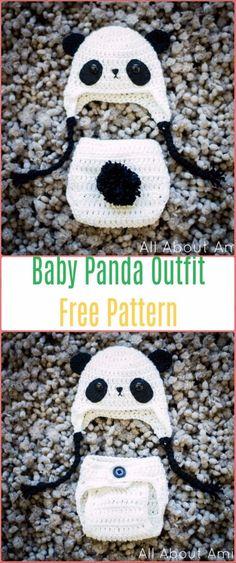 Crochet Baby Panda Outfit Free Pattern - Crochet Baby Shower Gift Ideas Free Patterns