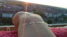 """""""live.love.wonder."""" in the sunset"""