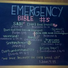 emergency bible verses