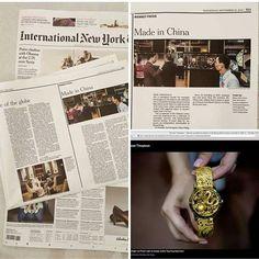美國權威報紙 - 紐約時報 在9月30日大編輯報導中國腕錶對全球的發展....其中特別報導香港品牌ANPASSA的創新獨立製錶理念當中介紹人手微繪十二生肖於天然貝母上及千足金打造的龍鳳厄陀飛輪ANPASSA無言感受香港品牌能夠在一份國際報章上給予報導介紹再此多謝紐約時報! US authoritative newspapers - The New York Times An extensive coverage on how Chinese watch industry affects the global development... A Special Coverage introducing Hong Kong independent watchmaking brand ANPASSA and its innovative concept. It introduced hand-painted Zodiac watches and 999.9 gold with the Dragon & Phoenix Tourbillon watch ANPASSA would…