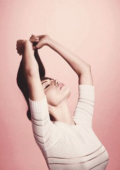 Yummy stretch.  Phoebe Tonkin photographed by Karen Collins
