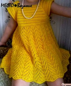 vestido amarillo Irish lace, crochet, crochet patterns, clothing and decorations for the house, crocheted. Crochet Toddler Dress, Crochet Dress Girl, Crochet Baby Dress Pattern, Black Crochet Dress, Baby Girl Crochet, Crochet Baby Clothes, Crochet Patterns, Knitting Patterns, Crochet Designs