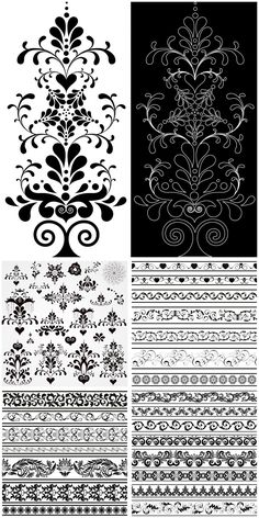Ornate decorative elements vector