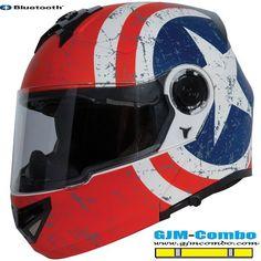 Torc T27 Rebel Star Modular Clear Shield Drop smoke Visor Motorcycle Helmet #TORC #Motorcycle