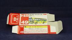 TOMICA 049F AMUSEMENT PARK BUS  | 1/130 | ORIGINAL BOX ONLY | ST9 1999 CHINA